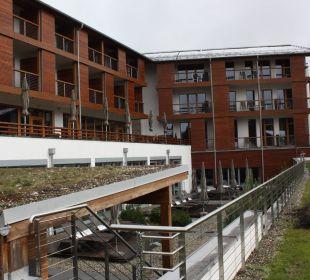 Südseite mit Terrasse Hotel Exquisit