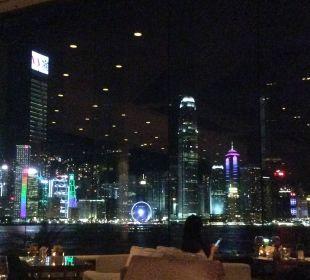 Blick von der Lobby auf die Skyline von Hongkong Hotel InterContinental Hong Kong