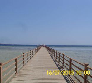 150 Meter Steg zum Riff