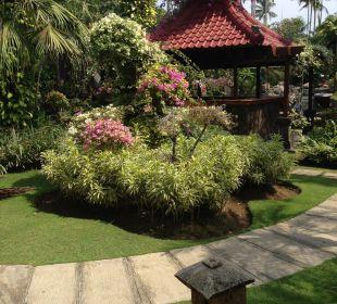 Ausblick in den Garten  Villas Parigata Resort
