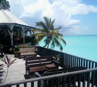 Blick von der Bar aufs Restaurant Cocos Hotel