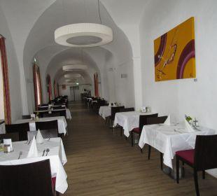 Speisesaal in der Burg Hotel Schatz.Kammer Burg Kreuzen