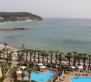 Pool und Strand Sani Beach