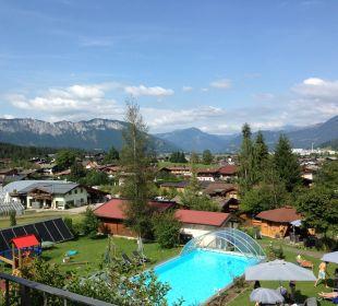 Blick aus unserem Panoramazimmer Gartenhotel Rosenhof