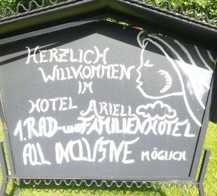 Schild Hotel Ariell