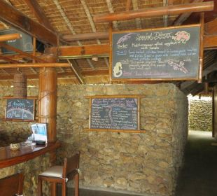 Tagesmenu Tafel Hotel Sipalay Easy Diving and Beach Resort