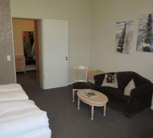 Gemütliche Sitzgelegenheit Upstalsboom Hotel Ostseestrand