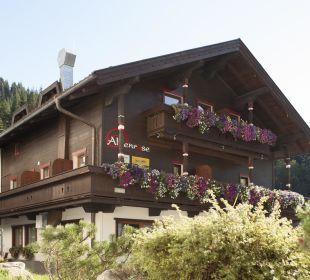 Alpenrose straßenseitig bzw. Richtung Norden Alpenrose Hotel-Pension