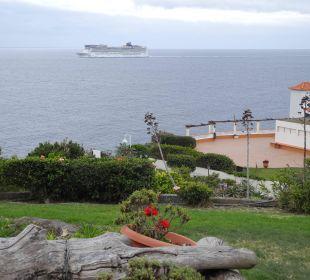 Blick von der Terrasse des Zimmers 3107 Galo Resort Galosol