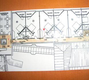 Lageplan des Zimmers Ringhotel Roggenland