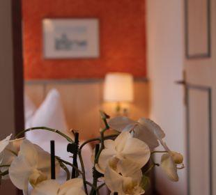 Blick ins Schlafzimmer Hotel Das Platzl