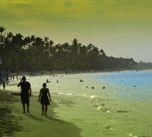Bei Sonnenunergang  Hotel Vista Sol Punta Cana