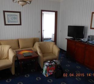 Wohnraum mit kleiner Schlafcouch SEETELHOTEL Ostseeresidenz Heringsdorf