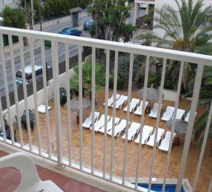 Ausblick Balkon (Pool)