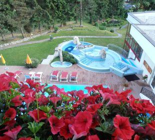 Blick vom Balkon Hotel Pulverer