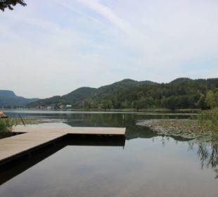 Eigener Badesteg am See Bauernhof Liendl