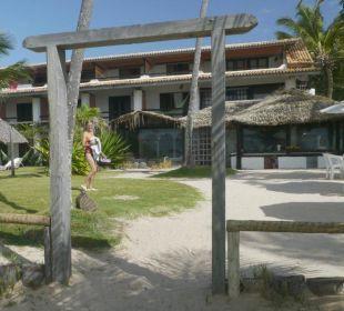 Blick vom Strand auf Hotel Hotel Porto da Lua