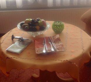 Obstschale zur Begrüßung Landhotel Talblick
