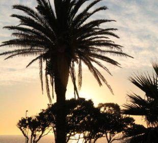 Sonnenuntergang von der Hotel-Terrasse gesehen Hotel Winchester Mansions