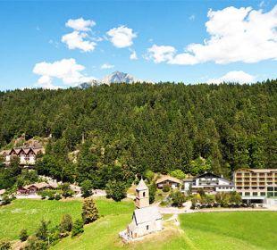 Panoramalage oberhalb Meran Hotel Sulfner