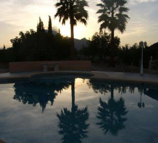 Romantische Stimmung am Pool Hotel Los Caballos