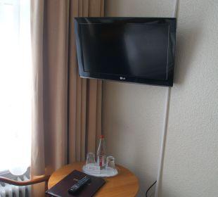 Fernsehen in unserem Zimmer Hotel Terminus