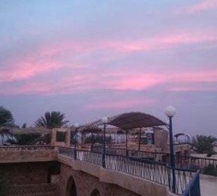 Sonnenuntergang Richtung Strand Hotel Utopia Beach Club
