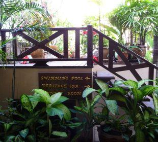 Pool auf dem Dachgarten Hotel Siam Heritage