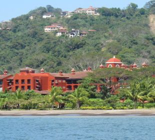 Blick vom Meer auf das Hotel Hotel Los Suenos Marriott Ocean & Golf Resort