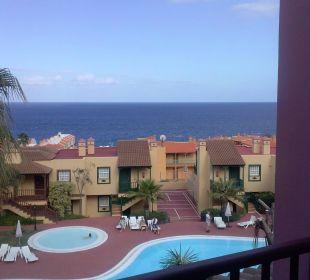 Blick vom Balkon Hotel Oasis San Antonio