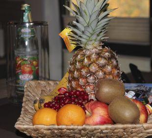 Obstkorb auf dem Zimmer Apartments Ferienparadies Alpenglühn