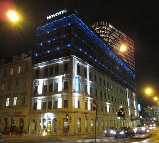 Novotel bei Nacht Hotel Novotel Wien City