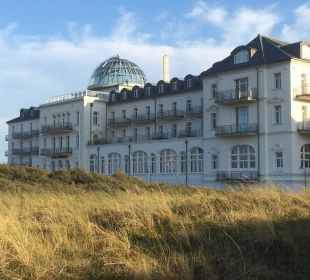 Prachtvolle Fassade Strandhotel Kurhaus Juist