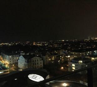 Blick vom Balkon a-ja Warnemünde. Das Resort.
