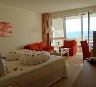 Doppelzimmer Meerblick Strandhotel Dünenmeer
