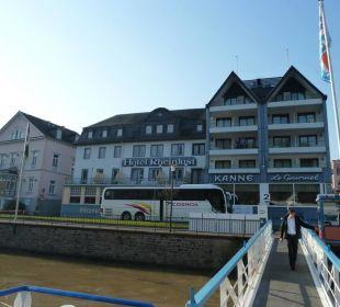 Hotelansicht vom Schiff Hotel Rheinlust