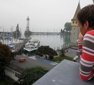 Von der Terrasse auf den Hafen Hotel Lindauer Hof