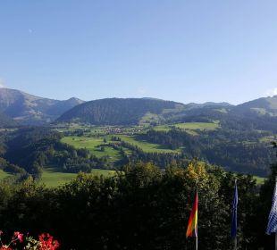 Aussicht von unserem Zimmer und Balkon Hotel Allgäu Sonne
