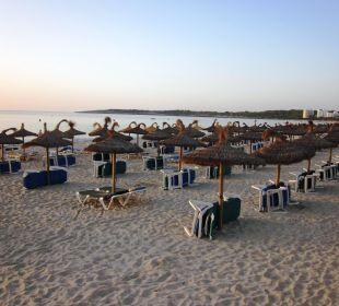 Früh morgens ist noch alles leer SENTIDO Playa del Moro