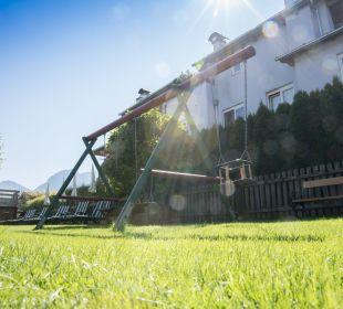 Gartenanlage Angerer Familienappartements Tirol