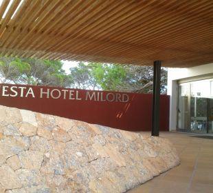 Eingang Rezeption Fiesta Hotel Milord