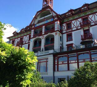 Aussenansicht vom Garten aus Hotel Vitznauerhof