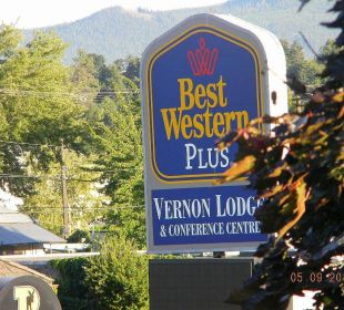 Schild Best Western Hotel Vernon Lodge