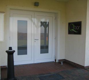 "Eingang ""Qbar"" Berghotel Ilsenburg"