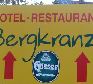 Das Schild von Hotel Hotel Bergkranz
