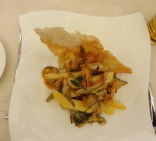 Leckeres Abendessen im Restaurant Bacchus Jazz Hotel