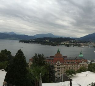 Ausblick vom Balkon Art Deco Hotel Montana Luzern