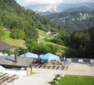 Blick aufs Wettersteingebirge Forsthaus Graseck (Vorgänger-Hotel – existiert nicht mehr)