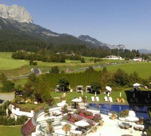 Blick vom Balkon - traumhaft Sporthotel Ellmau
