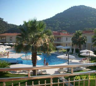 Blick vom Balkon The One Club Hotel